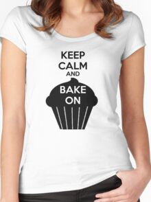Keep Calm And Bake On Women's Fitted Scoop T-Shirt