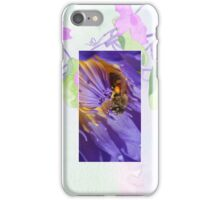 Bee in Water Lily Cellphone Case 34b iPhone Case/Skin