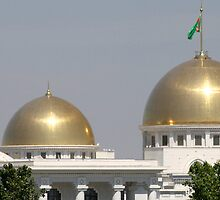 Gold Domed Presidents Palace, Turkmenistan by Jane McDougall