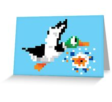 8-Bit Nintendo Duck Hunt 'Miss' Greeting Card
