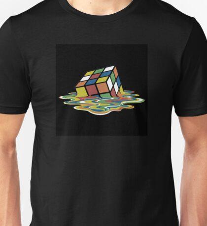 Melting Rubix Cube Unisex T-Shirt