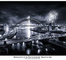 New Years Fireworks at the Newcastle & Gateshead Quayside, 2014 - by PaulAppleby