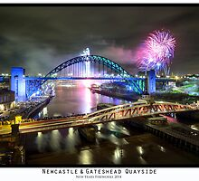 New Years Fireworks at the Newcastle & Gateshead Quayside, 2014 - Colour by PaulAppleby