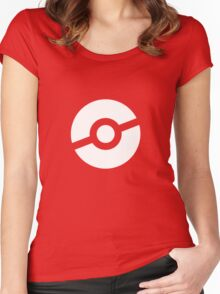 Pokeball Symbol Women's Fitted Scoop T-Shirt