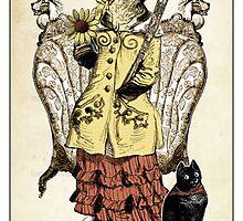 The Wands Suit - Queen of Wands by TheIsidoreTarot