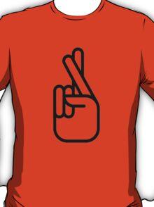 Zayn Malik Tattoo Fingers-crossed tattoo (black) T-Shirt