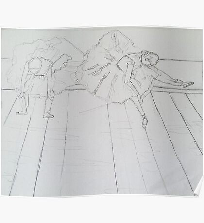 Artist Contours Project: Ode to Degas Poster