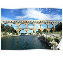 Pont du Gard, France - Roman aquaduct Poster