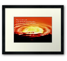 The Time Is At Hand Framed Print