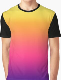 Girly Summer Tropical Gradient Abstract Sunset Graphic T-Shirt