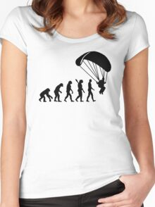 Evolution Skydiving Parachute jumping Women's Fitted Scoop T-Shirt
