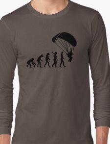 Evolution Skydiving Parachute jumping Long Sleeve T-Shirt