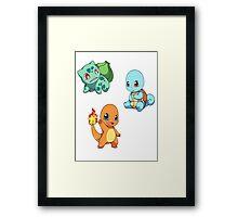 Pokemon chibi! Framed Print
