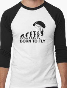 Evolution Skydiving born to fly Men's Baseball ¾ T-Shirt
