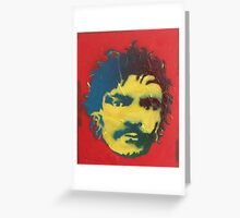 Julian Barratt in yellow, red and blue Greeting Card