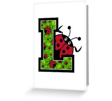 L is for Ladybird Greeting Card