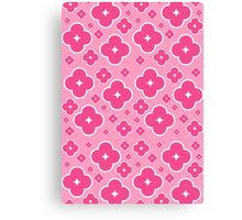 Abstract Pink Flower Pattern Canvas Print