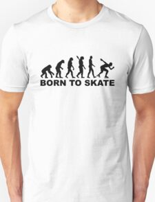Born to skate evolution speed skating Unisex T-Shirt