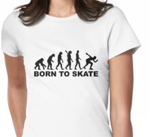 Born to skate evolution speed skating Womens Fitted T-Shirt