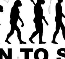 Evolution Surfing Born to surf Sticker