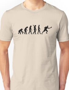 Evolution ping pong player Unisex T-Shirt