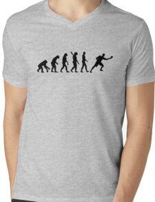 Evolution ping pong player Mens V-Neck T-Shirt