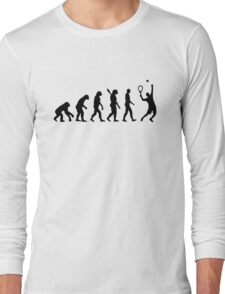 Evolution Tennis player  Long Sleeve T-Shirt
