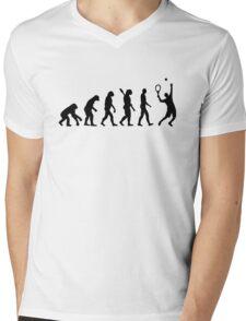 Evolution Tennis player  Mens V-Neck T-Shirt