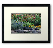 Stone Garden on Cape Breton Island Framed Print
