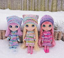 Blythes in the snow by Zoe Power