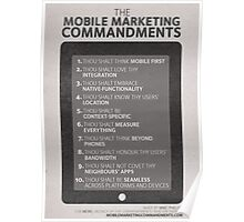 Mobile Marketing Commandments Poster