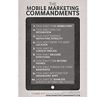 Mobile Marketing Commandments Photographic Print