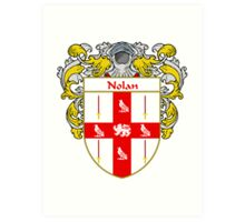 Nolan Coat of Arms/Family Crest Art Print