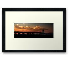 DAWN SECOND SEVERN CROSSING Framed Print