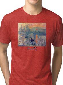 Monet: Impressions of Sunrise Tri-blend T-Shirt
