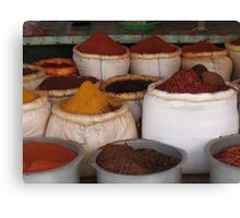 A bag of spice Canvas Print
