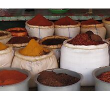 A bag of spice Photographic Print