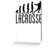 Lacrosse Evolution Greeting Card