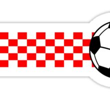 Football Stripes Croatia Sticker