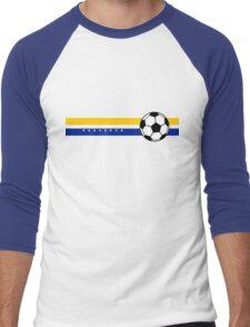 Football Stripes Bosnia And Herzegovina Men's Baseball ¾ T-Shirt
