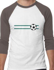 Football Stripes Nigeria Men's Baseball ¾ T-Shirt
