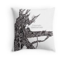 Abstract Art: Machine of the Unknown Throw Pillow
