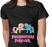 Pegasisters Forever (No Heart) Womens Fitted T-Shirt