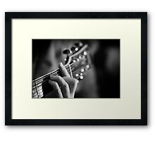 Silent music Framed Print