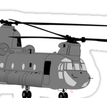 Chinook Helicopter Image Sticker