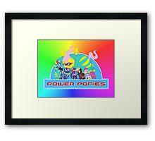 Power Ponies Framed Print