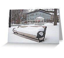 Park Bench in Kingston, NY Greeting Card