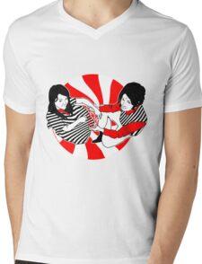 The White Stripes Mens V-Neck T-Shirt