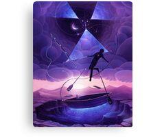 Boat man surrealistic painting Canvas Print