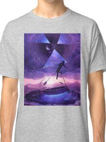 Boat man surrealistic painting Classic T-Shirt
